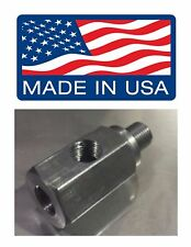 """M12x1.5 M12 1.5 1/8 NPT Oil Fitting Pressure Tee BMW """"CRUSH WASHER INCLUDED"""""""