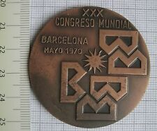 Congreso Mundial Barcelona 1970,Housing and Urban Development,Coin Medal Order