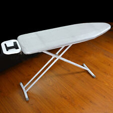 "Up to 16"" by 51"" Silver Fireproof Ironing Board Cover & Fiber Pad Bungee Binding"
