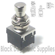 Guitarra Efectos Pedal Foot Switch Dpdt traba con acción On-on 9 Pin 2 Polos
