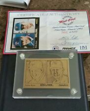 Highland Mint Limited Edition Bronze Nolan Ryan 1993 Pinnacle Card #3852 of 5000