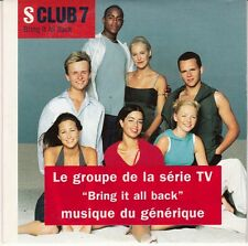 CD 2 T  S CLUB 7 *BRING IT ALL BACK* (GENERIQUE SERIE TV)