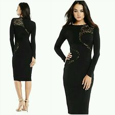 New Guess by Marciano Black Stretch-knit lace Dress size S
