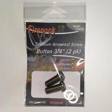 Firenock Titanium Hollow Arrow Rest Screw Button Head 3/4 inch long (2 pk)