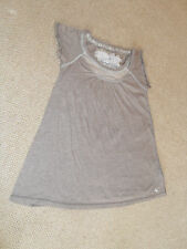 Abercrombie & Fitch brown mix coloured T- shirt top - size S