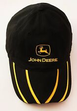 John Deere MPC Black Baseball Cap Sports Hat Adult One Size Cotton Velcros