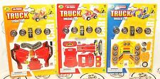 3 LOT PULL BACK TRUCK UNLOAD EXCAVATOR DIGGER SPADE FRONT LOADER 3D TOY PUZZLES