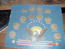 SHELL OIL PRESIDENTIAL COLLECTOR COINS