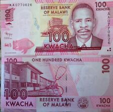 MALAWI 2012 100 KWACHA UNCIRCULATED NOTE P-59 JAMES FREDERICK SANGALA US SELLER