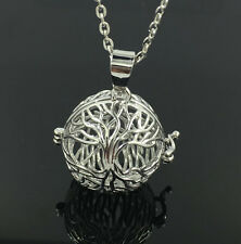 Silver Locket Necklace Fragrance Essential Oil Aromatherapy Diffuser Pendant C24