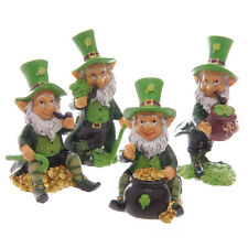 SET OF FOUR Lucky Irish Leprechaun Figures 9-11cm Home & Garden Statue Ornament