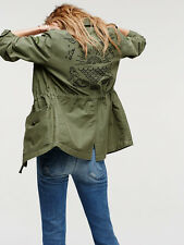 MOTHER DENIM VETERAN MILITARY GREEN JACKET XSMALL