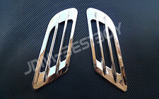 Euro Style Chrome Side Vent Car Air Flow Inake Fender Grille Mesh Scoop VIP