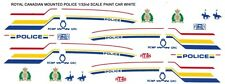 ROYAL CANADIAN MOUNTED POLICE 1/32nd Slot Car Waterslide Decals