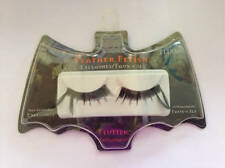 Fantasy Makers Wet N Wild Feather Fetish Flutter Black False Eyelashes Halloween
