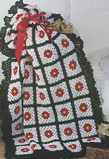 Crochet Pattern ~ VICTORIAN CHRISTMAS GRANNY SQUARE AFGHAN ~ Instructions