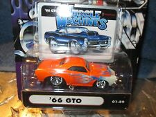 Muscle Machine '66 gto pontiac ORANGE W/flames  funline custom  1:64 HOOD SCOOP