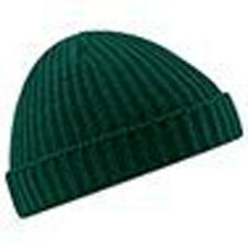 BEECHFIELD TRAWLER BEANIE HAT (B460) RIB KNIT RETRO HIPSTER - 6 GREAT COLOURS