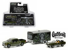 2015 FORD F-150 1968 SHELBY GT500KR GAS MONKEY GARAGE 1/64 GREENLIGHT 31010 A