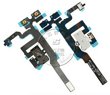 New Headphone Audio Jack Volume Flex Cable Replacement Parts For iPhone 4S White