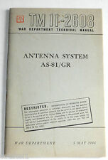 TM11-2608 Antenna System AS-81/GR Signal Corps 5 May 1944