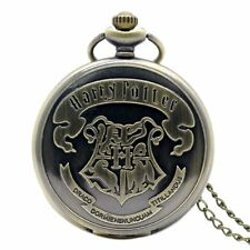 Hogwarts Harry Potter Dumbledore Army Quartz Men's Necklace Pocket Watch Chain