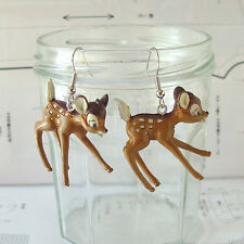 Harajuku Kawaii Lolita Kitsch Dark Brown Deer Dangle Earrings