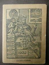 Almanacco Universale Gran Pescatore Chiaravalle Calendari Pronostici 1922 Genova