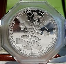 Indian Tribal Series Proof Silver Coin 1974, ONEIDA, IROQUOIS, SEAL Tribe