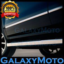 15-16 Ford F150 Crew Cab 4 Door Front+Rear Chrome Trim Body Side Molding 4pcs