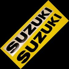 Suzuki GLOSS BLACK 23in LONG 58cm decals stickers sticker gsxr tlr FAST TO SHIP