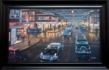 Ken Zylla Main Street in Season Christmas Print-Framed Size LG 35.5 x 23
