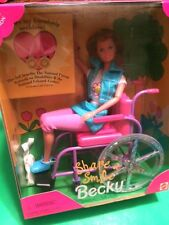 Share a Smile Becky Titian Barbie Doll Jointed in Pink Wheelchair Disabilities