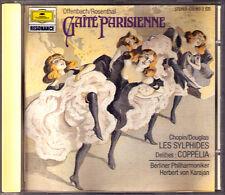 Karajan: Offenbach Gaite PARISIENNE CHOPIN LES SYLPHIDES Delibes Coppelia DG CD