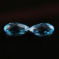 4pcs 10X20mm Swarovski Teardrop  crystal beads D sky-blue