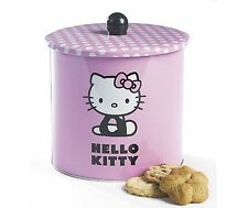 Ufficiale Hello Kitty BISCUIT Barrel COOKIE TIN stoccaggio contenitore rosa regalo UK