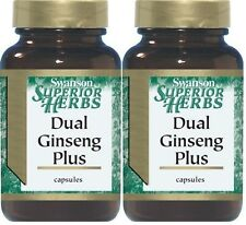 2X Dual Ginseng Plus Panax Eleuthero American 120 Caps