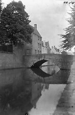 1912 BRUGES Belgium Antique Photographic Glass Negative (Royal Society London)