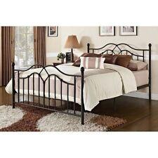 Bronze Metal Bed Queen bedroom furniture Iron Antique Victorian Frame Headboard