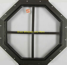 "Octagon Shed Window 14"" Brown Flush Mount, Playhouses Coops Tree House Sheds"