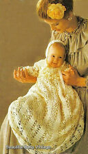 CROCHET PATTERN Baby or Doll Victorian Dress Bonnet 16-18 inch 41-46 cm COPY