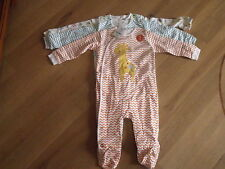 BNWT Girls NEXT 3 Pack  Sleepsuits/Babygrows age 12-18 months