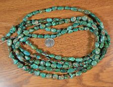 "~15.5"" strand~  Genuine FOX MINE Nevada Boulder Turquoise Nugget Beads"