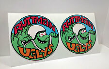 Pair of RUTTMAN UGLYS Mini Bike Vintage Style DECALs | Vinyl STICKERs, 3 Inches