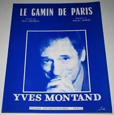 Partition sheet music YVES MONTAND : Le Gamin de Paris * 50's