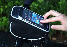NEW Bicycle Handlebar Bar Bag Bike Touch Case For Samsung S3 S4 HTC iPhone 5 6