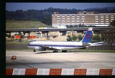 Orig 35mm airline slide Skystar International 707-320C N2215Y [212-2]