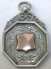 Antique hallmarked sterling silver & 9ct or rose fab médaille – chester c 1915