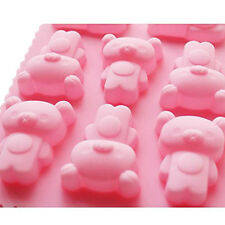 Cute Bear Silicone Chocolate Ice Cube Cookie Jelly Mold Maker Bakeware Mould
