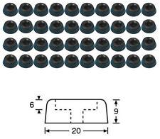 40 x Gummifuß klein 20 x 9 mm mit Stahleinlage Gummifüße Gerätefuß Boxenfüße